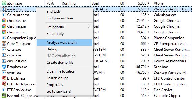 ۱۰ ترفند در Task Manager ویندوز ۱۰ که بلد نیستید!،مشکل حسابداری،پاسخگویی تلفنی ،حسابداری هلو ، پرسش و پاسخ تلفنی،تغییر تصویر پس زمینه ۱۰ ترفند در task manager ویندوز ۱۰ که بلد نیستید! ۱۰ ترفند در Task Manager ویندوز ۱۰ که بلد نیستید! windows-task-manager-wait-chain