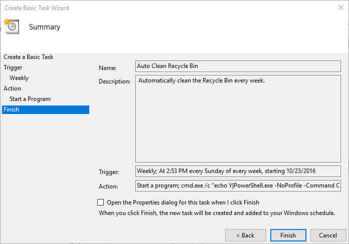 زمان بندی خودکار برای خالی کردن سطل آشغال ویندوز، Recycle Bin ،ترفند سطل آشغال، زمان بندی سطل آشغال ،مشکلات حسابداری ،پرسش وپاسخ تلفنی ، حسابداری هلو  زمان بندی خودکار برای خالی کردن سطل آشغال ویندوز زمان بندی خودکار برای خالی کردن سطل آشغال ویندوز empty-recycle-bin-windows-review-settings