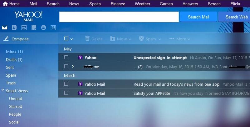 تغییر تصویر پشتزمینه در ظاهر جدید سرویس ایمیل یاهو،پاسخگویی تلفنی ،حسابداری هلو ، پرسش و پاسخ تلفنی،تغییر تصویر پشتزمینه در ظاهر جدید سرویس ایمیل یاهو در صورتی که از سرویس ایمیل یاهو استفاده میکنید حتماً متوجه ظاهر جدید این سرویس شده است. تغییرات زیادی در این ظاهر جدید به چشم میخورد و همه چیز بسیار مدرنتر شده است. تغییر تصویر پشتزمینه در ظاهر جدید سرویس ایمیل یاهو 0625182717-trick_893x714