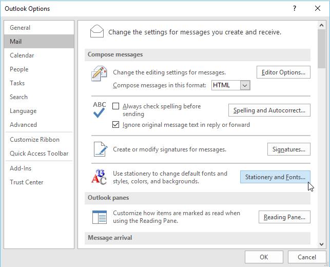 تغییر فونت پیشفرض ایمیلهای ارسالی در نرمافزار Outlook، مشکل حسابداری،پاسخگویی تلفنی ،حسابداری هلو ، پرسش و پاسخ تلفنی،تغییر فونت پیشفرض ایمیلهای ارسالی تغییر فونت پیشفرض ایمیلهای ارسالی در نرمافزار outlook تغییر فونت پیشفرض ایمیلهای ارسالی در نرمافزار Outlook Untitled-2-2