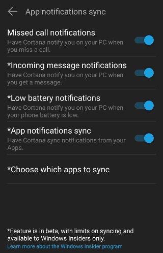نمایش نوتیفیکیشنهای اندروید بر روی ویندوز 10، مشکل حسابداری،پاسخگویی تلفنی ،حسابداری هلو ، پرسش و پاسخ تلفنی، نمایش نوتیفیکیشنهای اندروید بر روی ویندوز 10 نمایش نوتیفیکیشنهای اندروید بر روی ویندوز 10 نمایش نوتیفیکیشنهای اندروید بر روی ویندوز 10 android-cortana-settings-notifications-selection